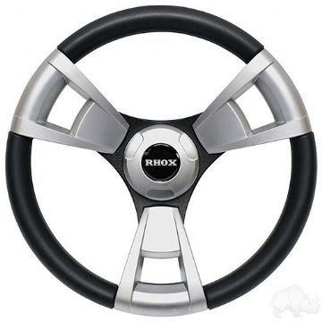 Fontana Steering Wheel, Brushed, Club Car EZGO Hub